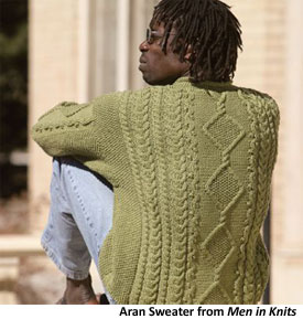 Men's Cable Knit Sweater: From Men in Knits eBook