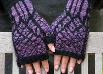 Knitting Gift Ideas: Winter Twilight Mitts