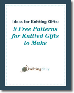 Download your 9 free patterns for knitted gifts to make!