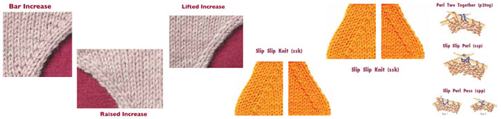 Increase Decrease Knitting Stitches : Knitting Increases and Decreases: How to Decrease and Increase Stitches in Kn...