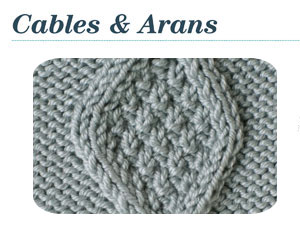 Knitting Stitches, Patterns for Cables & Arans