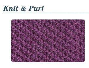 Basic Knitting Stitches, Patterns for Knit & Purl