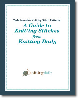With this free guide to types of knitting stitches, you'll not only get the basics but more advanced knit stitches to take your knitting to the next level.