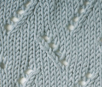 Find lace knitting stitches, including this beautiful zigzag eyelet stitch.
