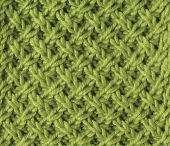 Get your eBook to discover stitch patterns, such as this lattice pattern design.