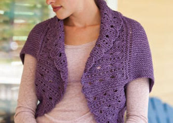 Knit Lace Pattern: Sophia Shrug by Betty Monroe