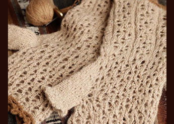 Knitting Lace Patterns: Wild and Warm Guanaco and Vicuna Lace Fingerless Gloves by Kaye D. Collins