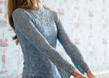 Knitted Lace Blouse: Oriel Lace Blouse by Shirley Paden