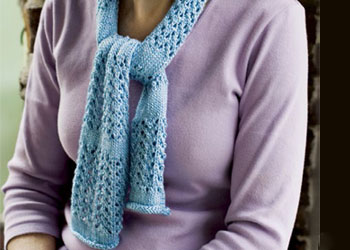 Knitted Lace Scarf Patterns: Penobscot Silk Lace Scarf design by Cyren Slegona