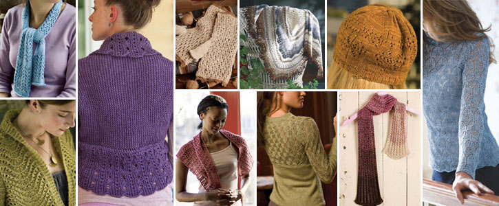 Get all 10 of these free lace knitting patterns when you download today.