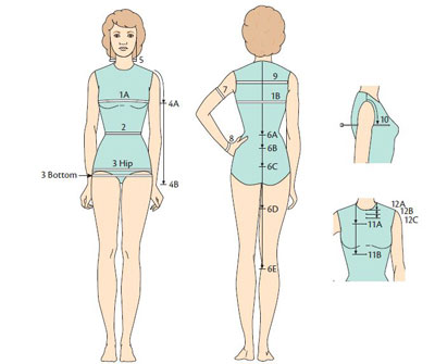 Learn how to measure hips and waist, bust and more with this guide.