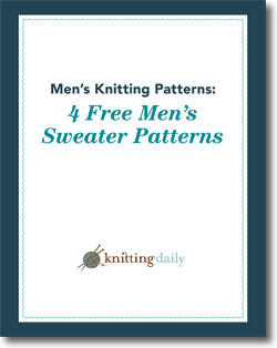 Download four free men's sweater patterns, all in one eBook.