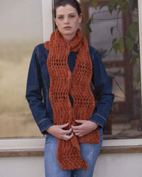 Free Scarf Patterns #3: The Wavy Orange Scarf