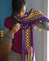 Knitting Patterns Scarves #6: The Blooming Cotton Scarf
