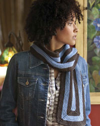 Easy Scarf Knitting Patterns #7: Building Block Scarves