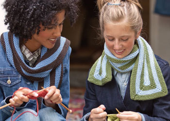 Discover scarf knitting patterns to make designs like these, with this free download from Knitting Daily.