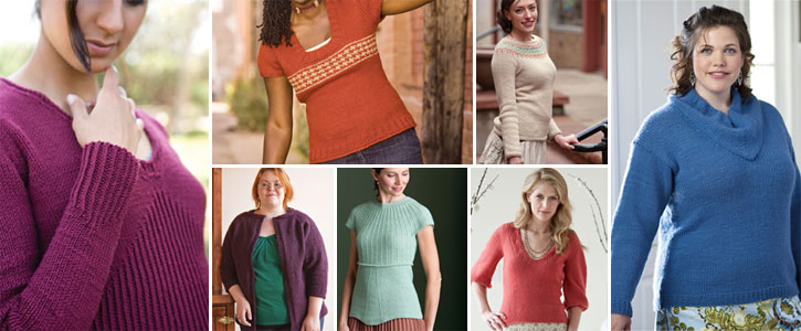 Find each of these sweater patterns, and everything you need to knit them, in this exclusive free eBook.