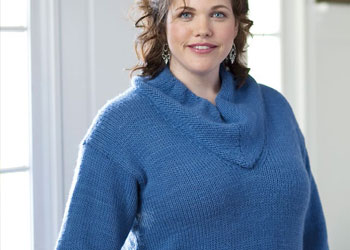 Knitting Short Row Pattern with this sweater pattern from Knitting Daily.