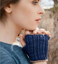 Beginners Knitting Patterns: Knuckle Down Mitts