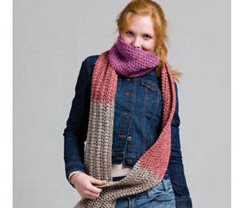 Beginners Knitting: Scarf Pattern, Overdyed Ragg Scarf