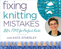 Knitting Directions for Fixing Knitting Mistakes