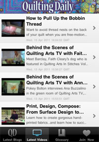 Quilting Daily App Screenshot
