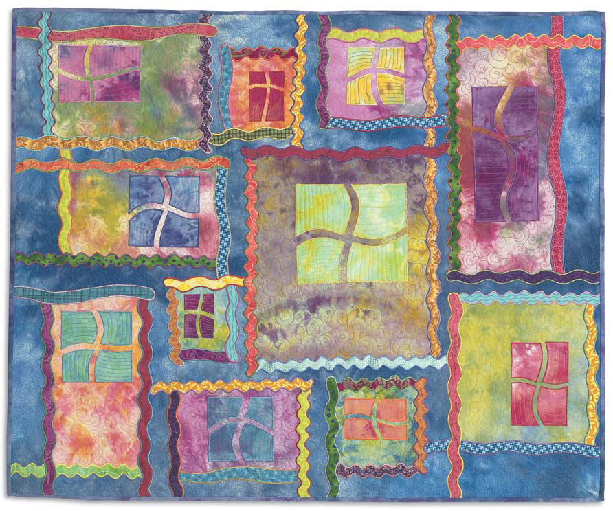Make beautiful quilt applique patterns for quilts like this one with this free eBook.