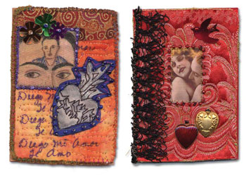 Artist Trading Cards by Janet Ghio from the Free Quilt Art Download