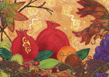 Art Quilt: Autumn Jewels, Capture the Season in Your Art Quilt by Kirsten Chursinoff