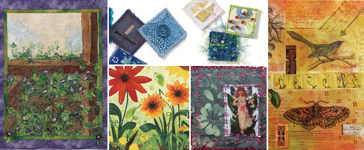 Get all five of these art quilt patterns when you download this free eBook!