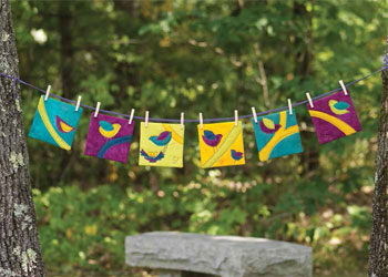 Easy Quilt Patterns Free Bird Quilts: Branch and Bird Mini Quilt Series by Candy Glendening