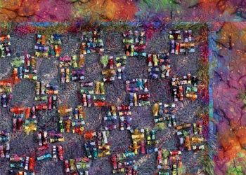 Bead Fringe Embellishment: Fabric Bead Frenzy by Gail Ellspermann