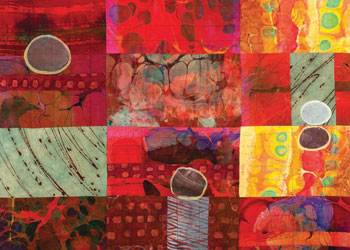 Creating Marbled Fabric: Layered Marbling