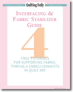 Don't forget to download your guide to interfacing fabrics and using stabilizer.
