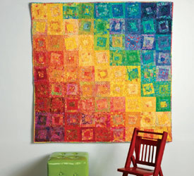 Colorful Wall Quilts: Playing with Crayons