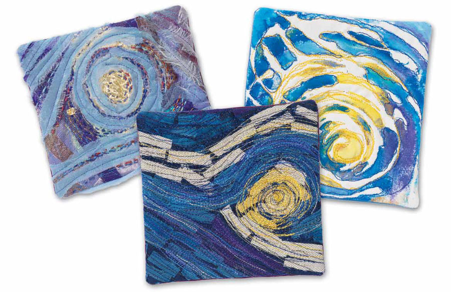 Learn how to create fabric crafts like these squares for using on quilts and more.