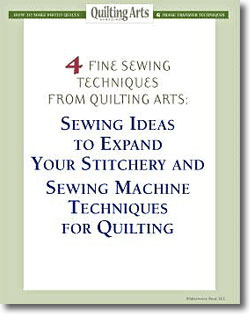 Free guide to fine sewing techniques and stitchery fun for quilters.