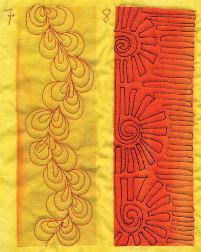 Learn to quilt motifs, machine quilt, and thread sketch, all with this easy-to-use resource.