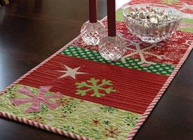 Handmade Gift Ideas: Snow Play Table Runner