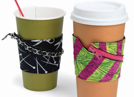 Handmade Gift Ideas: Coffee Cuff with a Zipper