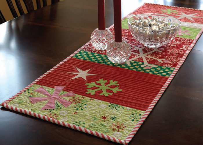 handmade gift ideas snow play table runner