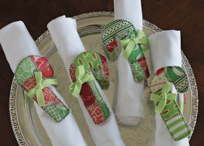 Handmade Gift Ideas: Short and Sweet Candy Cane Napkin Holders