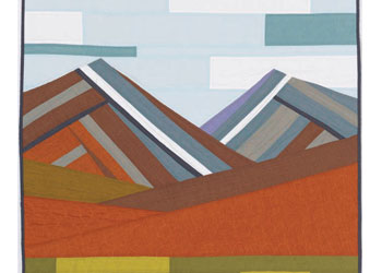 Modern Mountains Quilt: Create a Pieced Landscape by Krista Fleckenstein