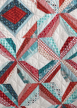 Create modern designs such as this one with this modern quilt patterns free eBook.