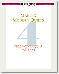 Download your free eBook of modern quilt patterns.