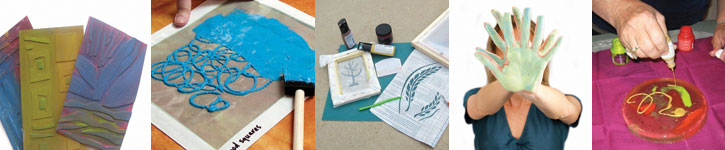 Learn how to make a silk screen, use Thermofax, finger paint and more with these free tutorials.