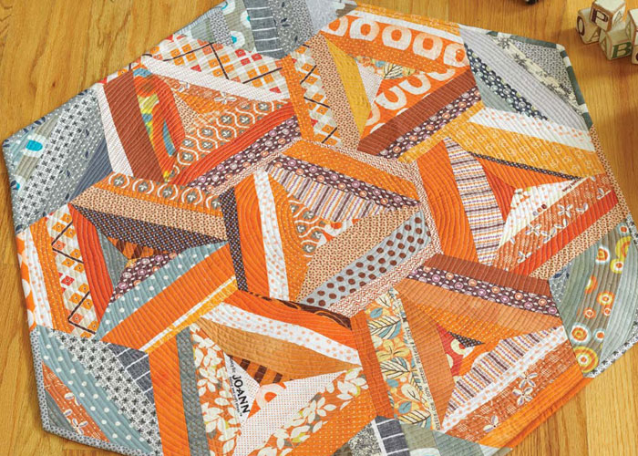 Baby Patchwork Quilt: Inside Out Hexagon Baby Quilt by Malka Dubrawsky
