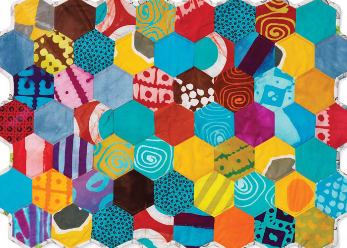 Patchwork Patterns: Mini Hexagon Quilt by Malka Dubrawsky