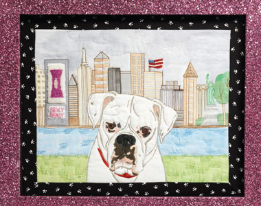 Featured from the Pet Portraits article in Quilting Arts Magazine Dec 11/Jan 12.