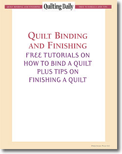 Don't forget! Download your free eBook of quilt binding techniques and finishing tips!